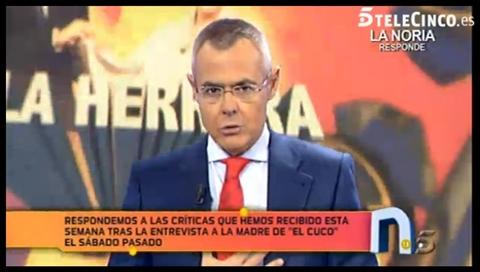 Jordi González en La Noria - Telecinco
