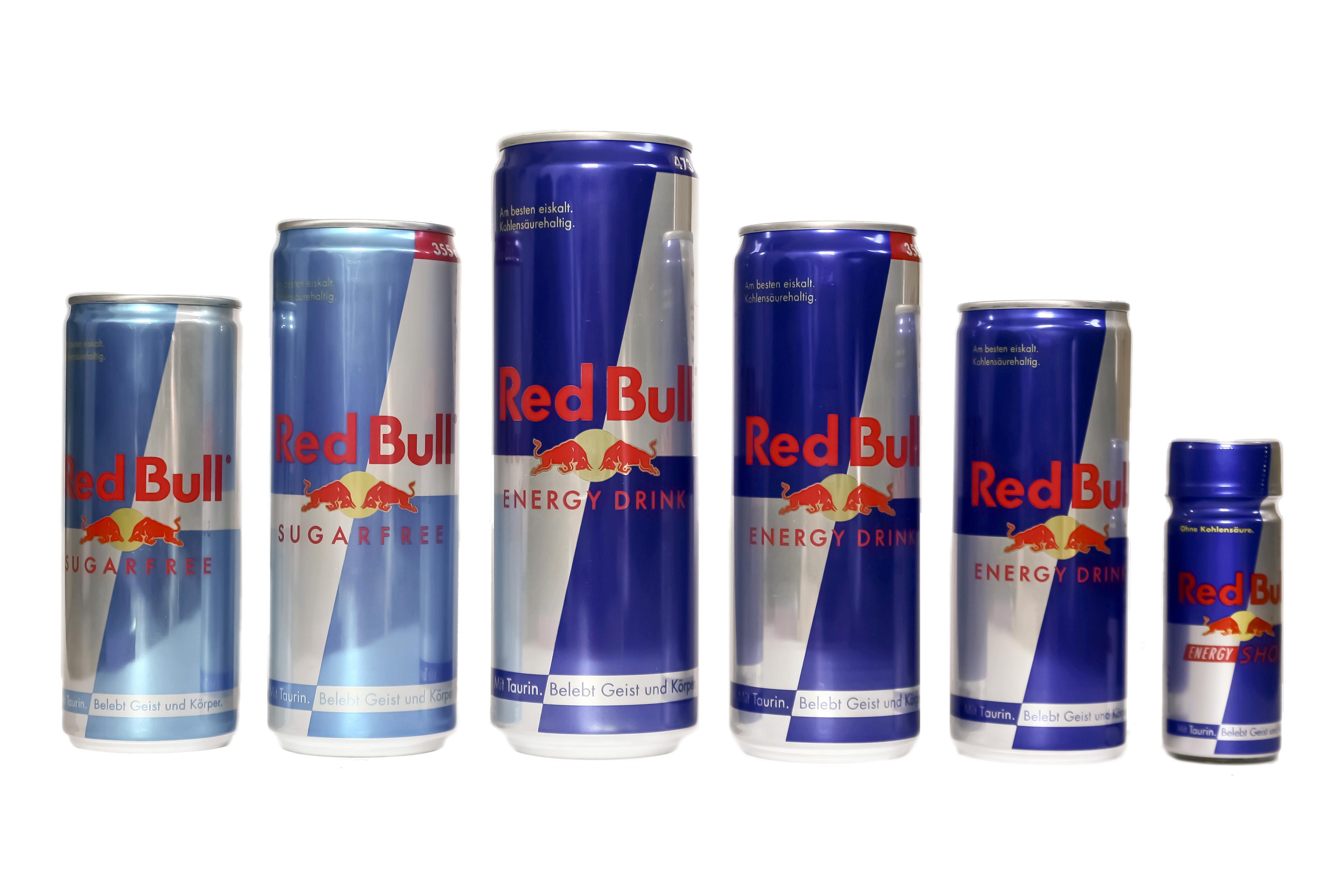 Imagen de latas de Red Bull