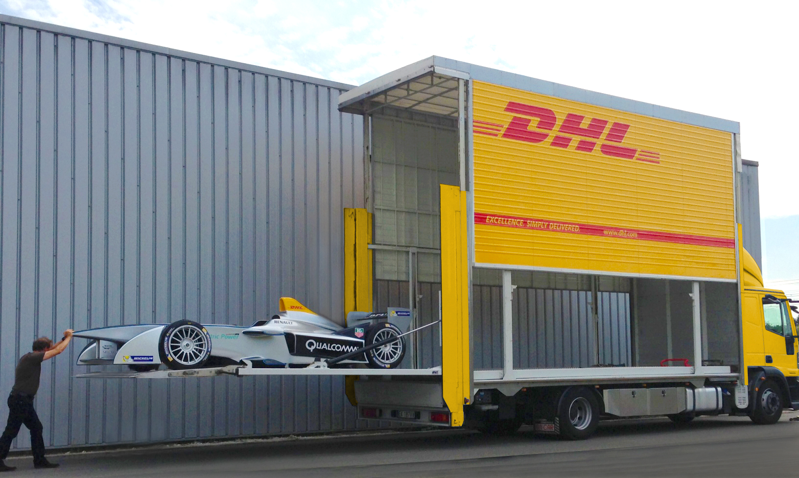 Imagen traslado de vehículo Fórmula E