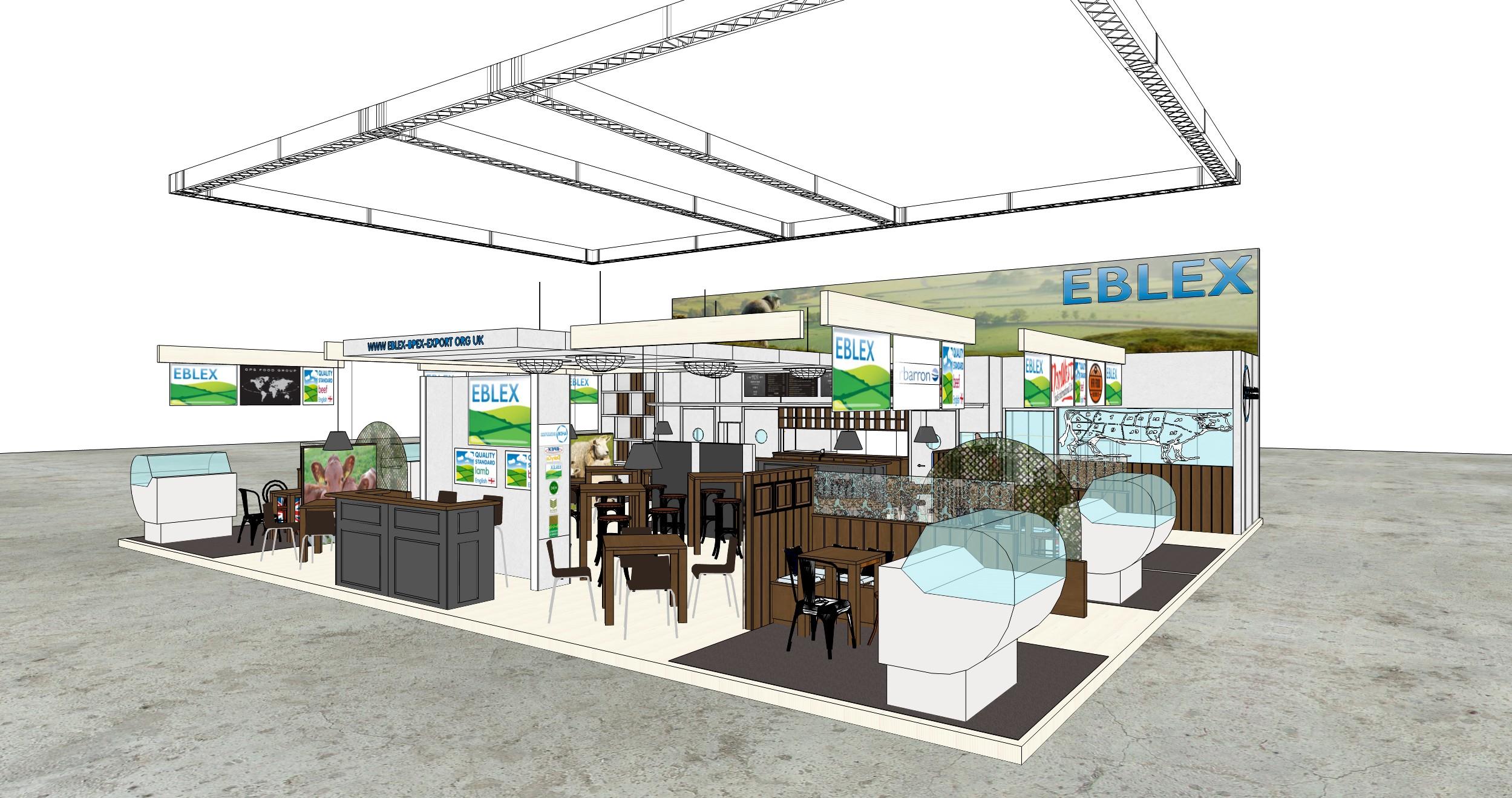 Stand de presentación de EBLEX en Anuga