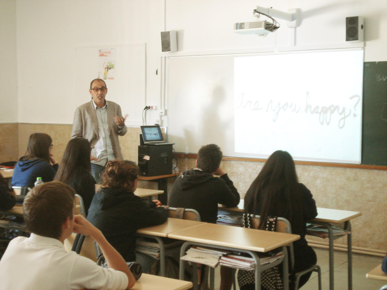 Charla de Santiago Mariscal a alumnos del colegio FEDAC