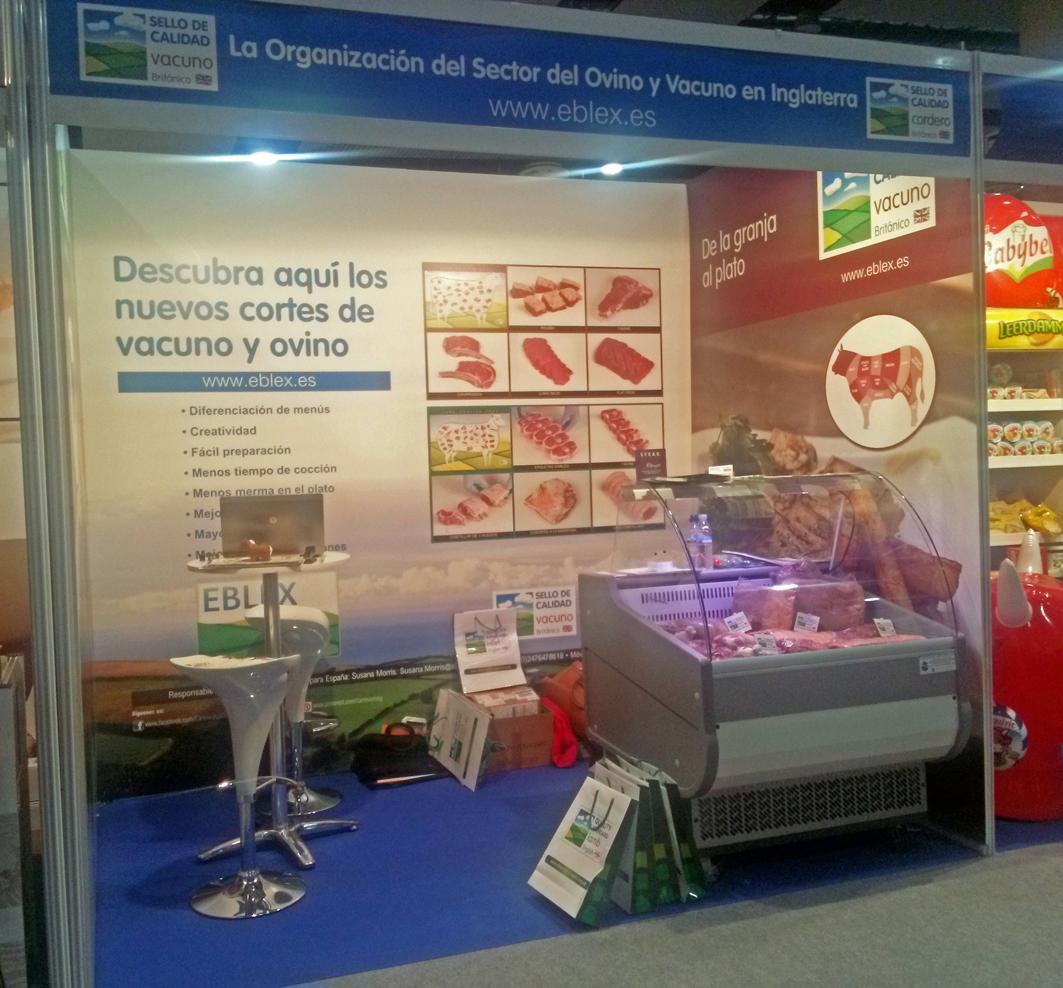 Stand de EBLEX en la feria Expo Foodservice