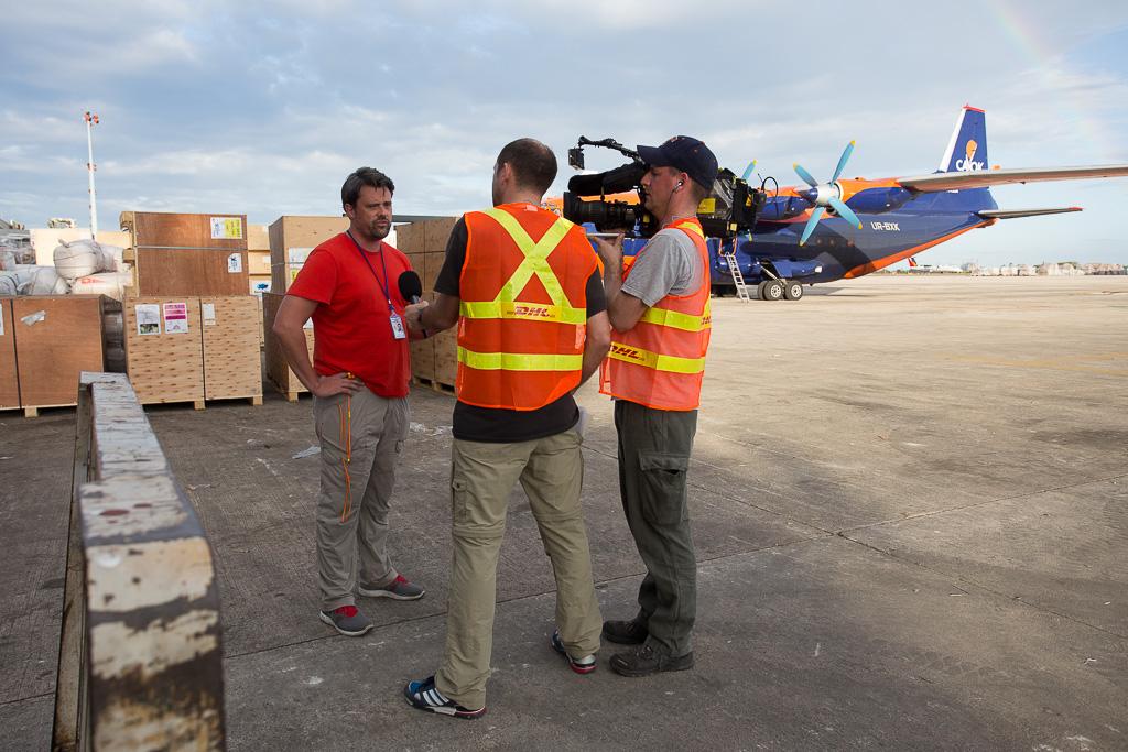 Programa de colaboración de DP DHL y la ONU para situaciones de desastre