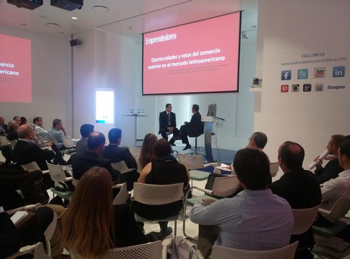 El Director Comercial de DHL Express en América Latina durante su encuentro con empresarios en Madrid
