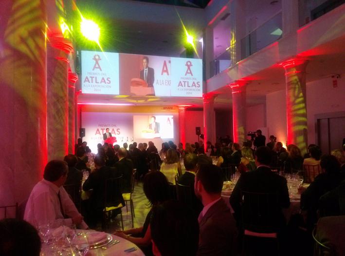 Vista general de la entrega de los Premios Atlas de DHL a la exportación
