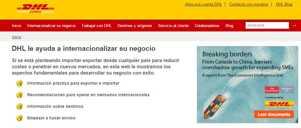DHL Internacionalización