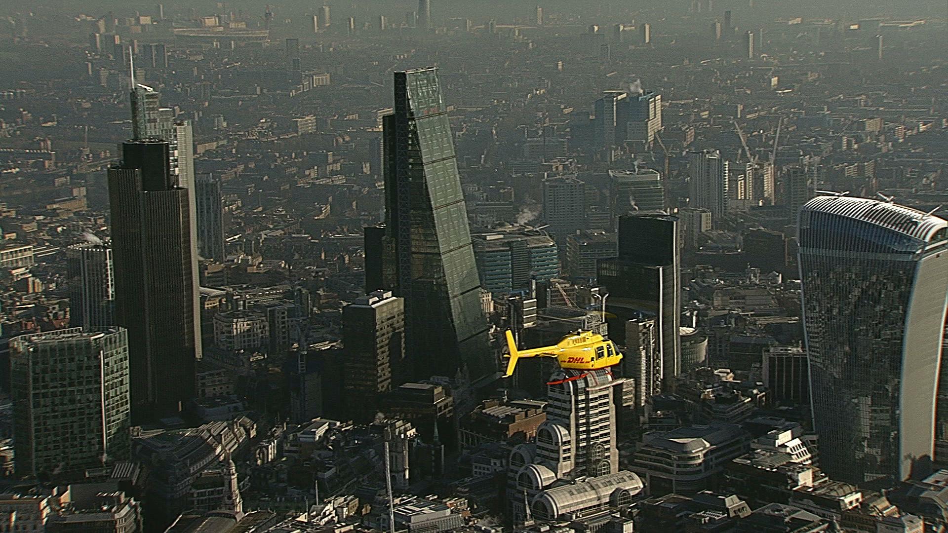 Helicóptero de DHL