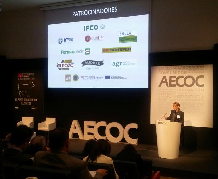 Pantalla de inauguración del congreso AECOC con los patrocinadores