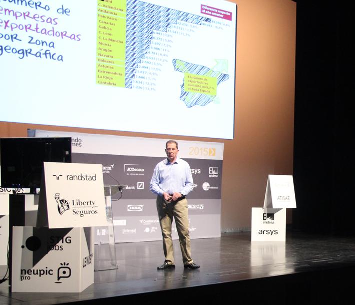 Nicolás Mouze durante su intervención en Impulsando Pymes Burgos