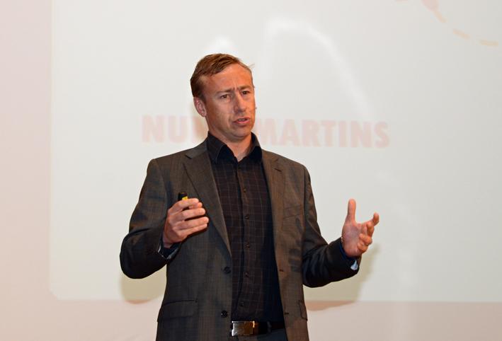 Nuno Martíns durante su intervención en Impulsando Pymes Murcia