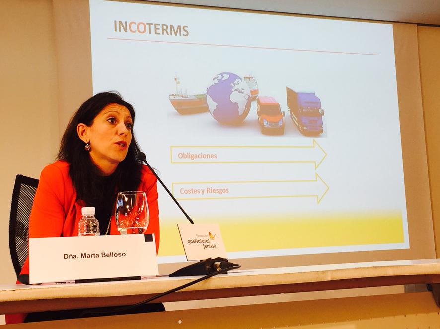 Marta Belloso durante el Seminario Primera Exportación en Logroño