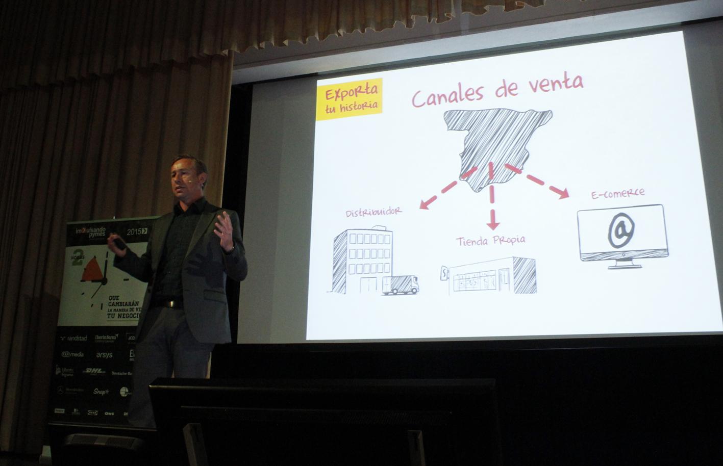 Nuno Martins durante su intervención en Impulsando Pymes Santander