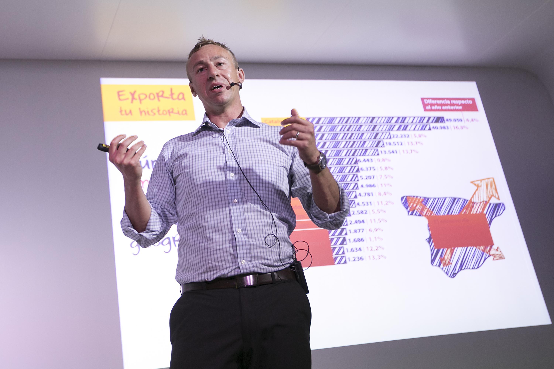 Nuno Martins, durante su intervención en Impulsando Pymes Barcelona