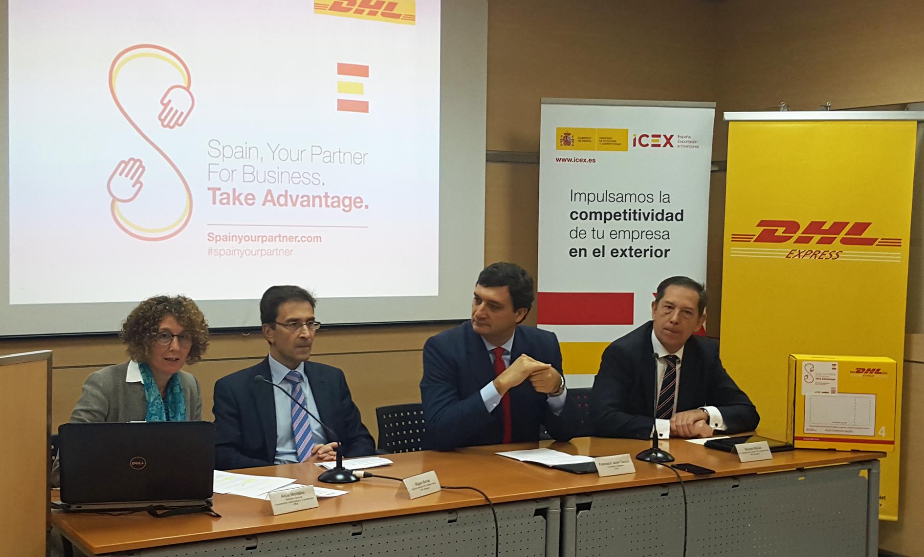 """Presentación de la campaña """"Spain Your Partner"""" de ICEX y DHL"""