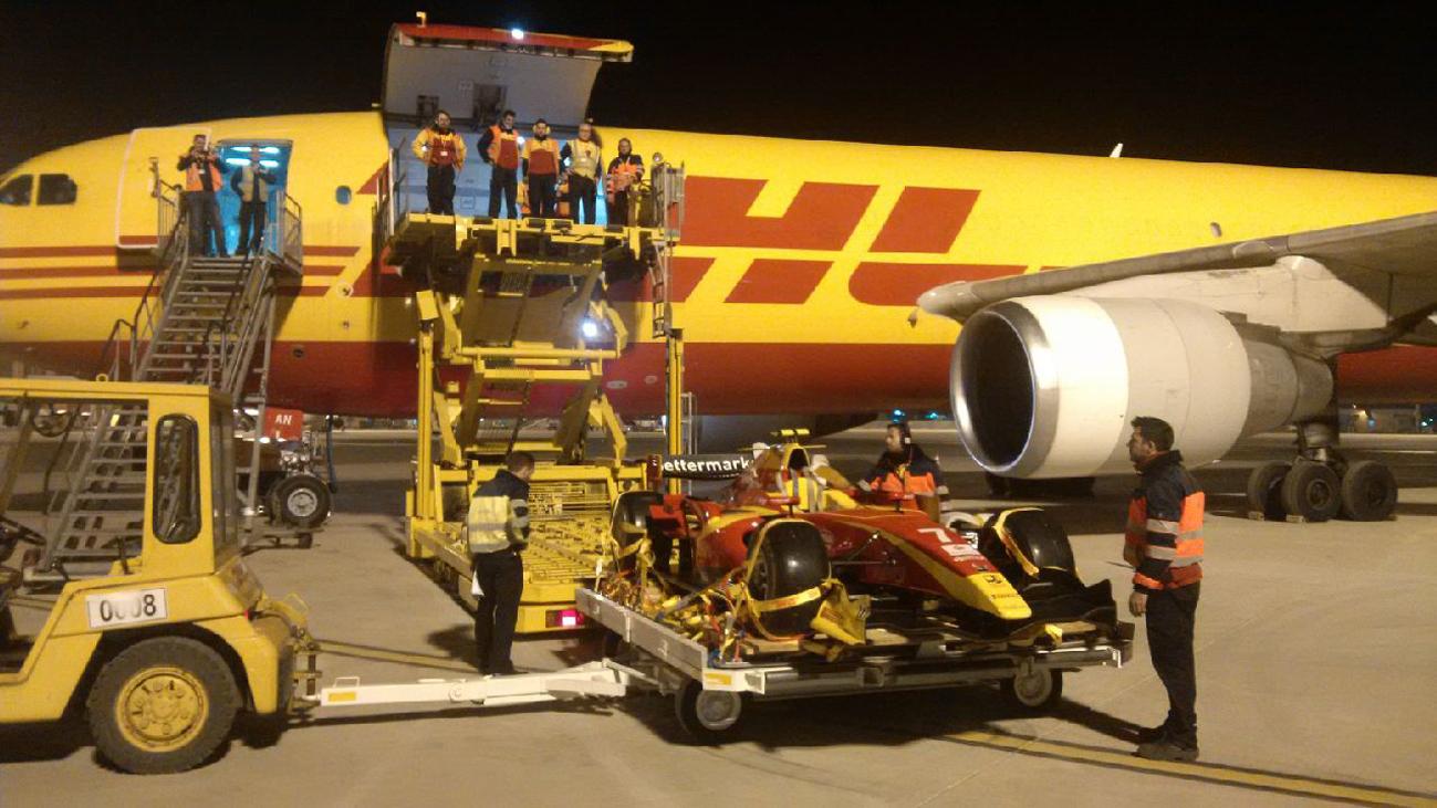 Envío de monoplaza F1 con el nuevo Airbus 300 de DHL