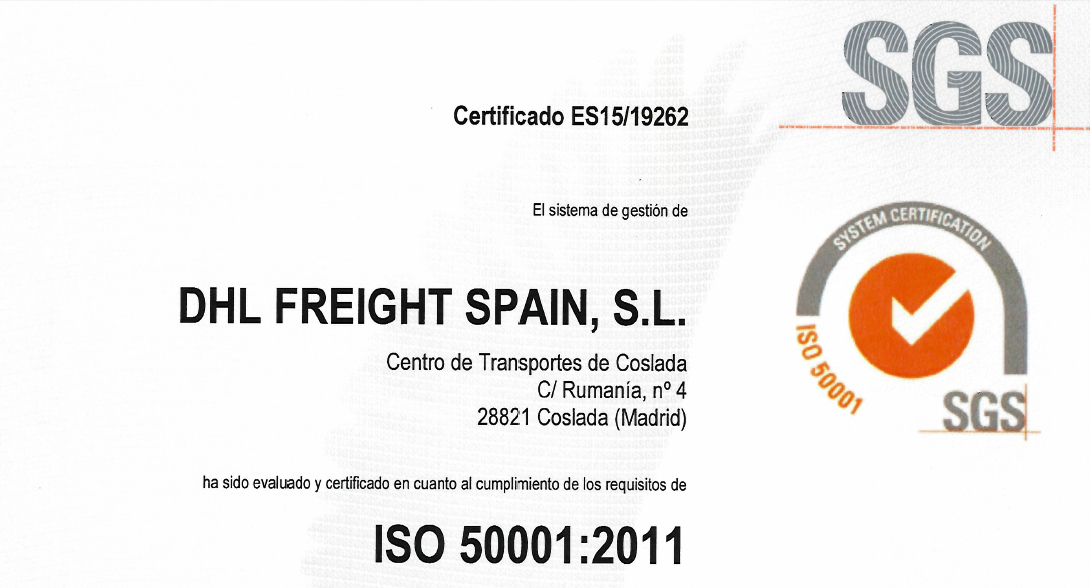 ISO 50001 DHL Freight