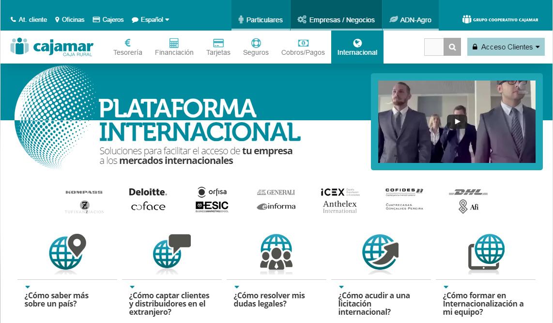 Plataforma internacional de Cajamar