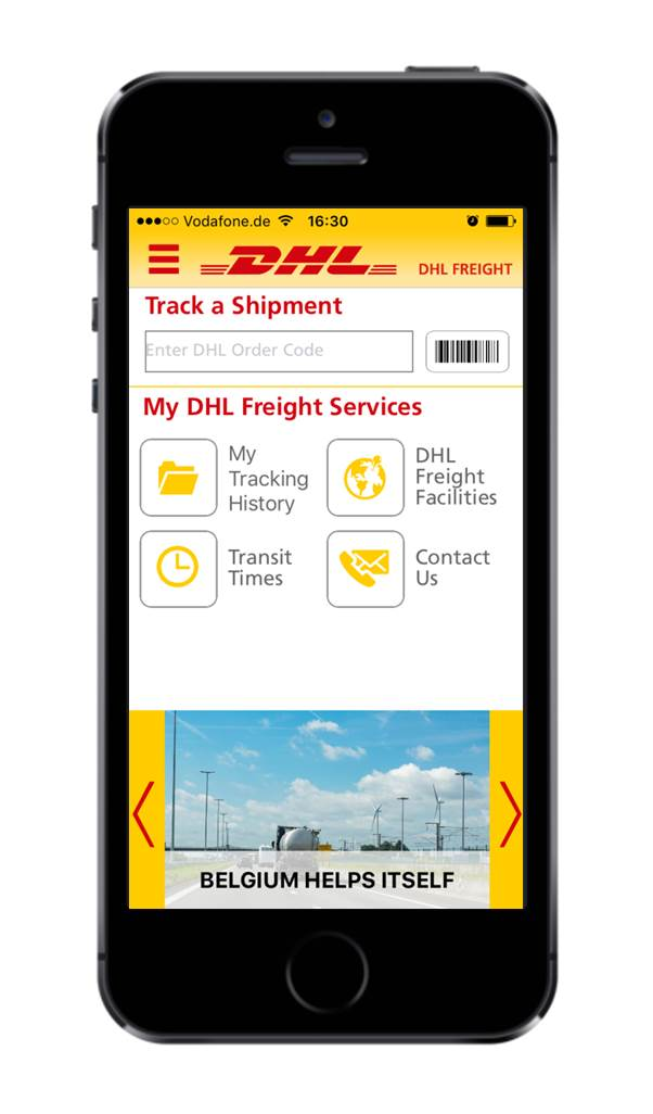 App DHL Freight