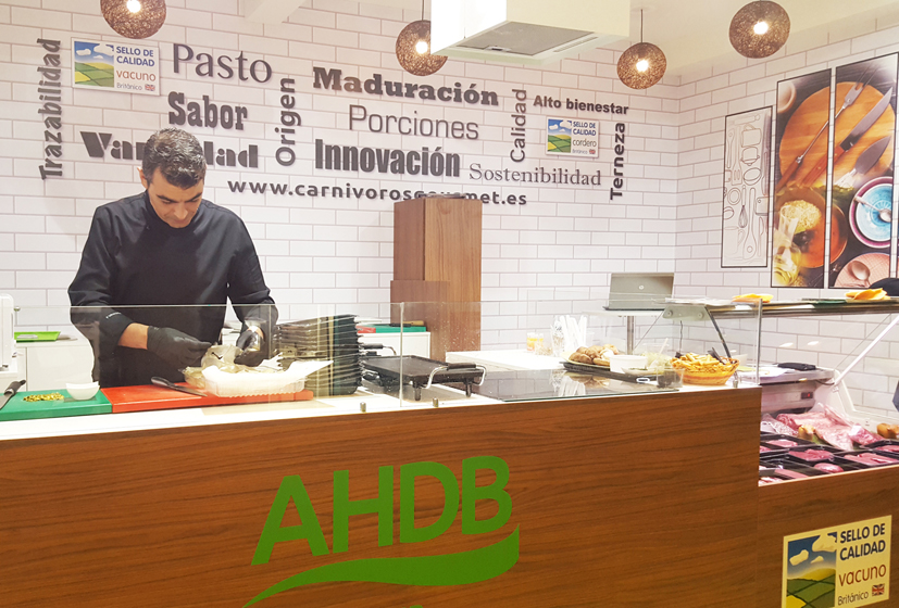 Stand AHDB en Salón de Gourmets