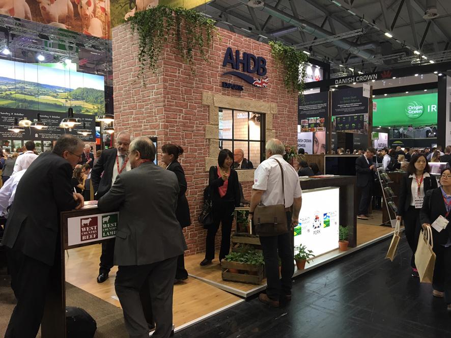 Stand de AHDB en Anuga 2017