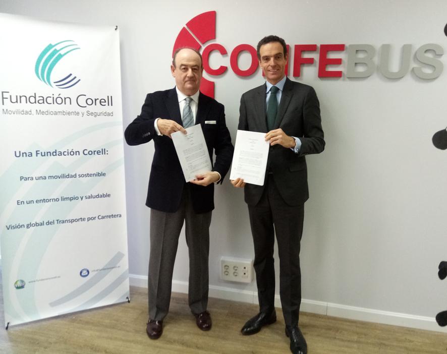Firma del Convenio entre Confebús y la Fundación Corell