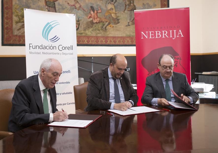 Firma Convenio Fundación Corell y Universidad Nebrija