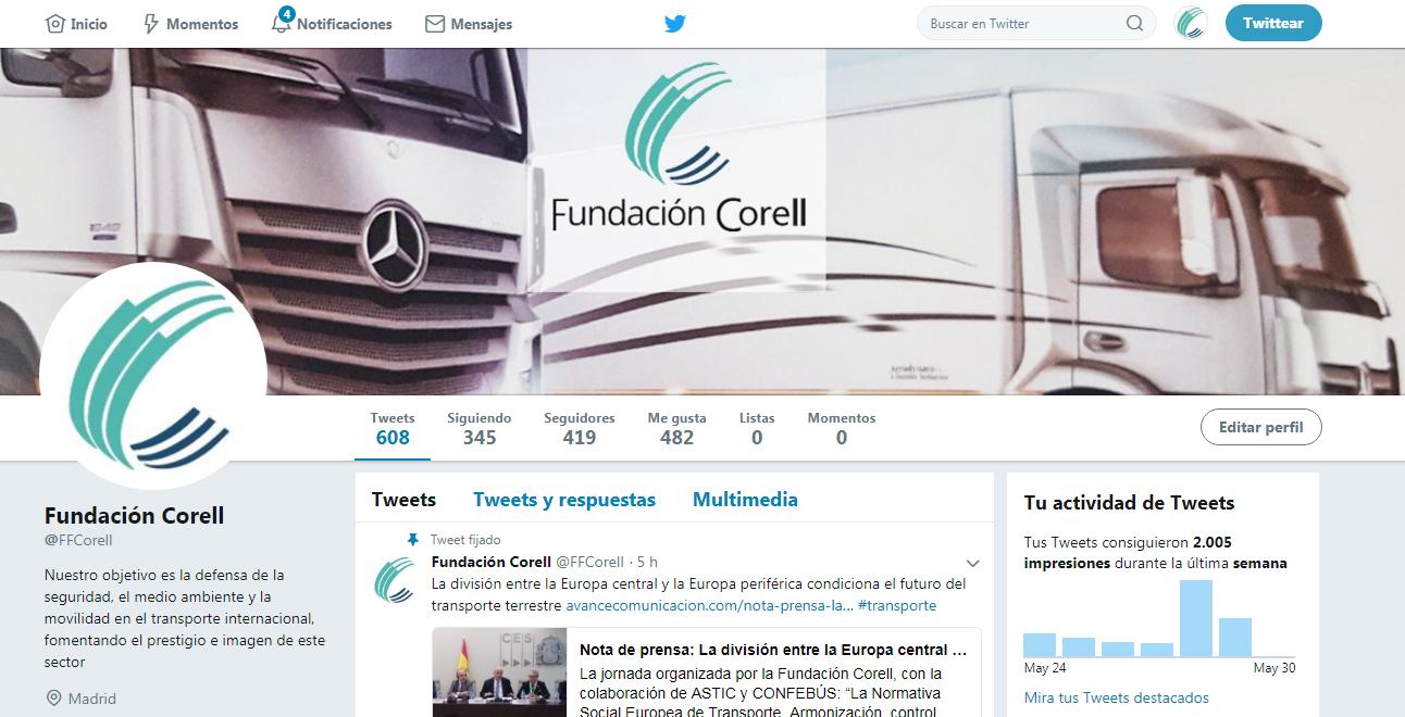Redes Sociales Fundación Corell