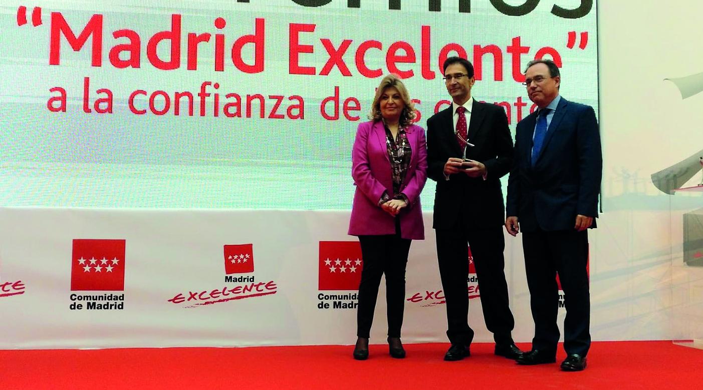 Entrega de Premios Madrid Excelente a la Confianza de los Clientes a DHL Express