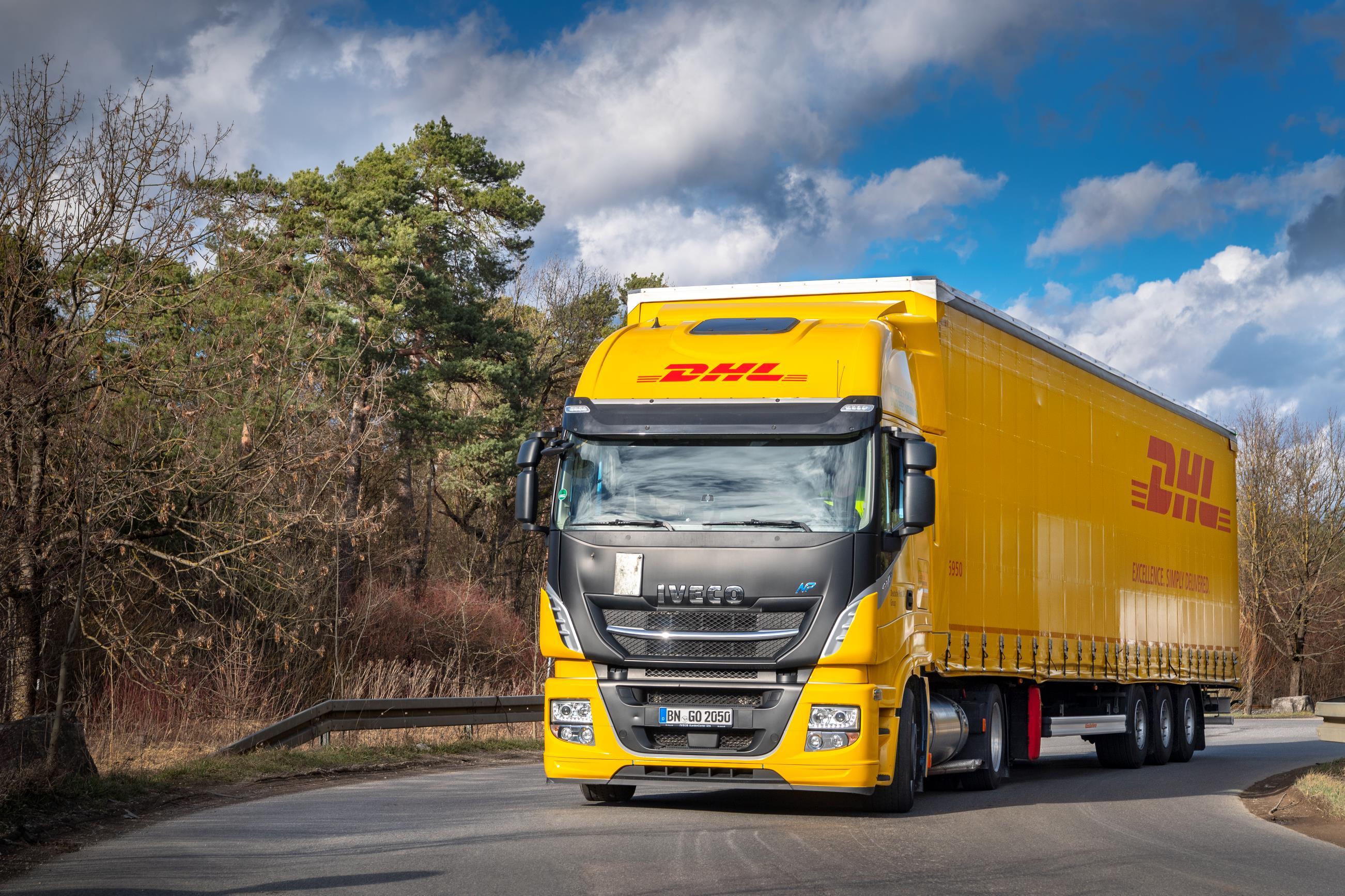Camión de GNL de DHL Freight