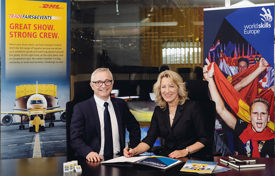 Firma del acuerdo entre DHL Trade Fairs & Events y WorldSkills Europe