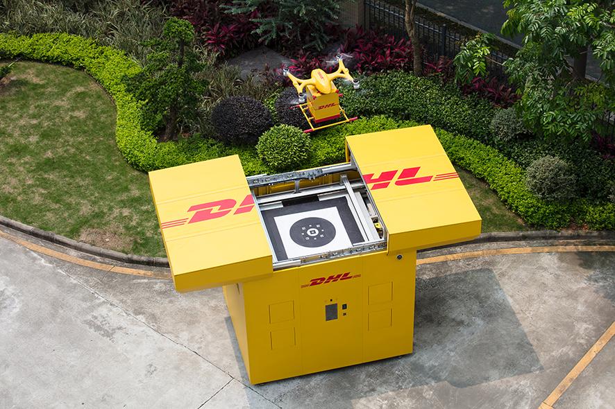 reparto con drones de DHL en China