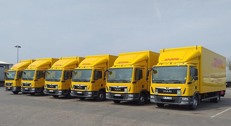 Camiones DHL Freight con tecnología solar